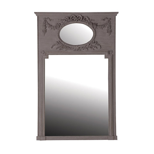 Grey Mirror With Oval Insert