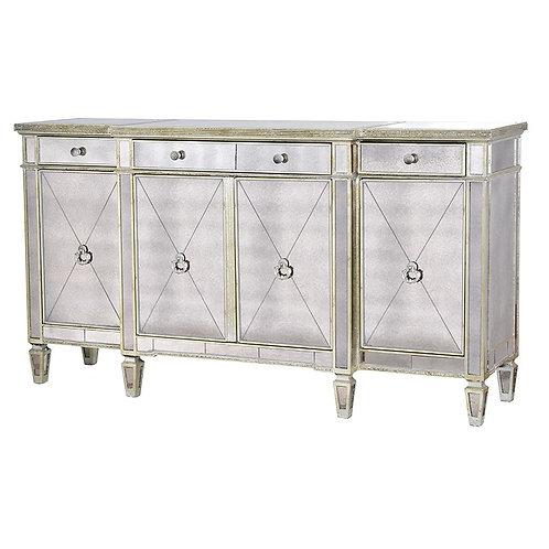 Venetian Antique Glass Large Sideboard