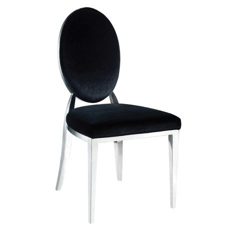 Black Oval Back Dining Chair