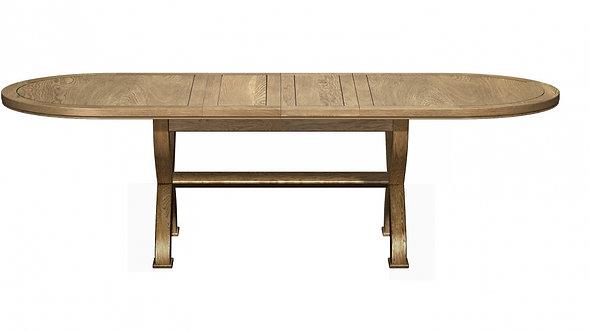 Cross Leg Oval Extending Dining Table