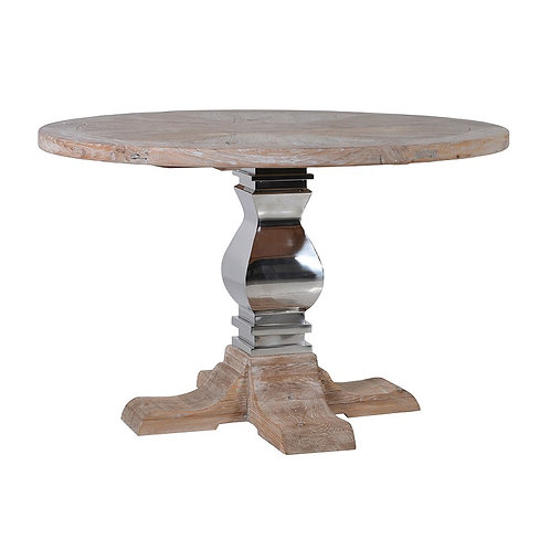 Steel / Wood Round Dining Table