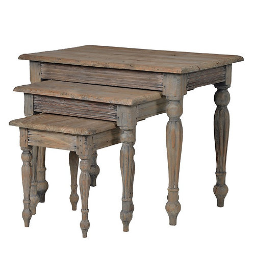 Provincial Reclaimed Pine Nest Of 3 Tables