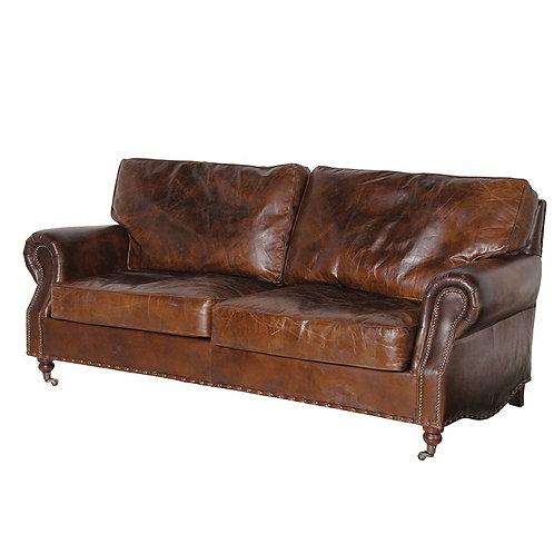 Vintage Leather 3 Seater Settee