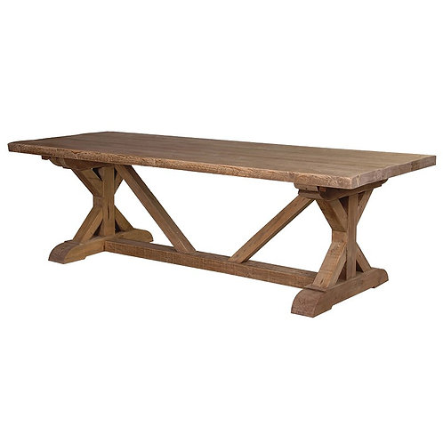 Reclaimed Pine Tavern Table with Stretcher