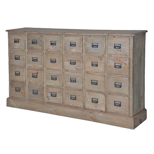 Provincial Reclaimed Pine 24 Drawer Chest