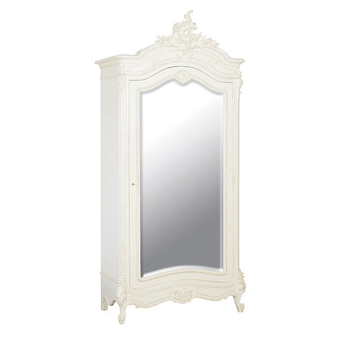 Louis Philippe Mirrored Armoire