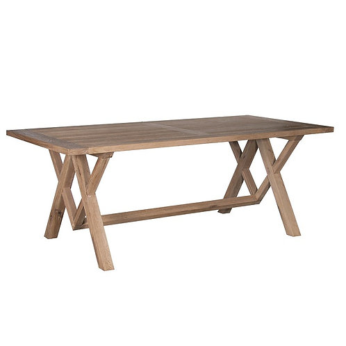 Large Rustic Oak Dining Table