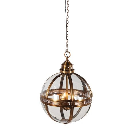 Bronze Glass Ball Light