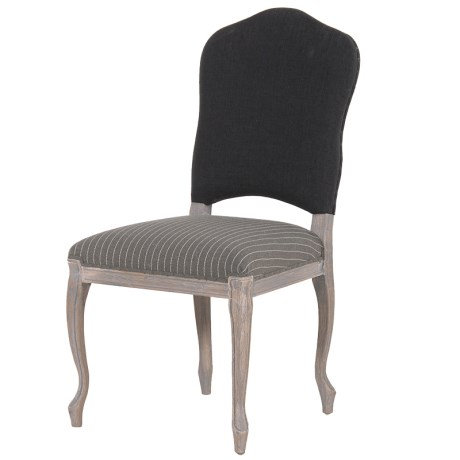 Grey And Black Stripe Chair