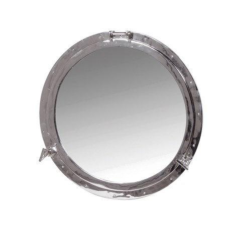 Nickel Finish Porthole Mirror