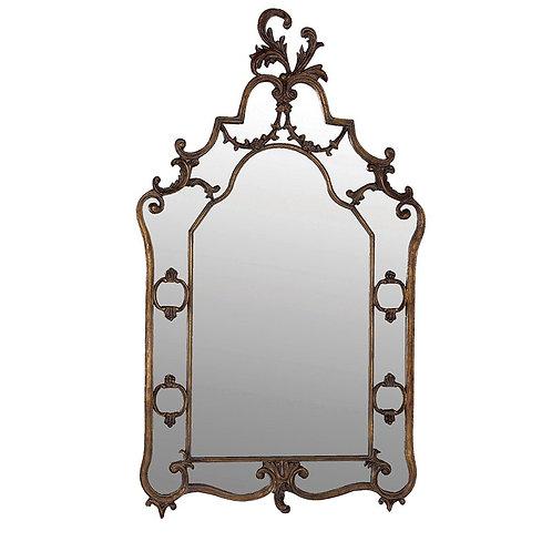 Large Bordeaux Mirror With Antique Gold Effect