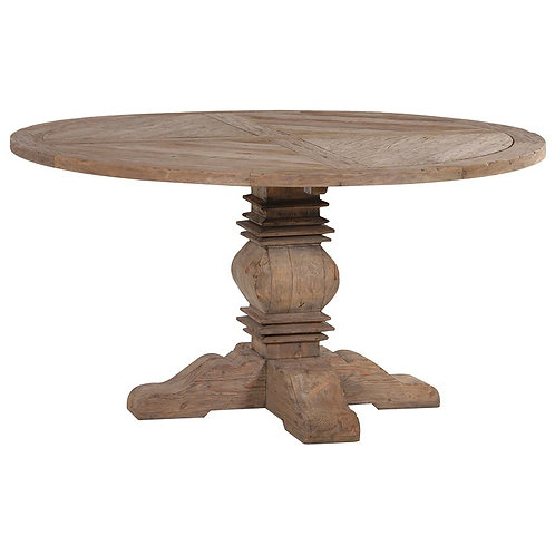 Provincial Reclaimed Pine Round Dining Table