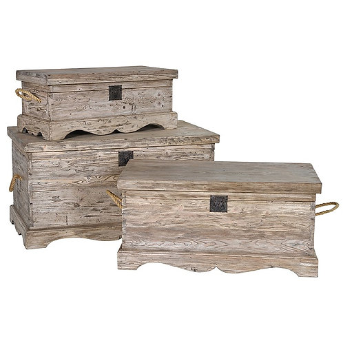Medium Provincial Reclaimed Pine Blanket Box