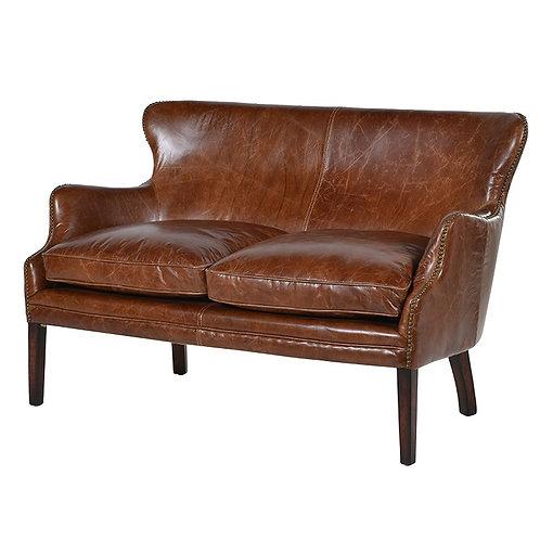 Cuba Brown Leather 2 Seater Sofa