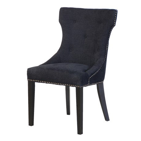 Black Curved Black Dining Chair