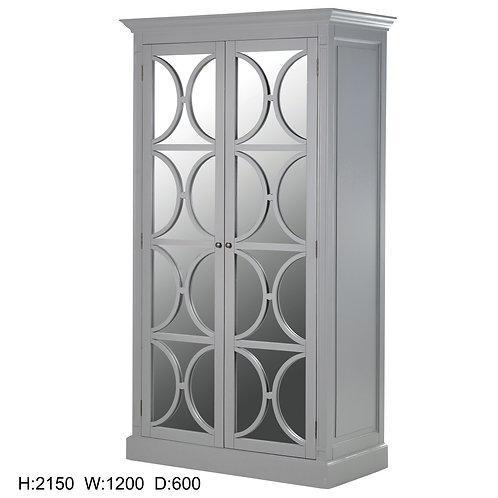 Shaker Grey Mirrored Wardrobe