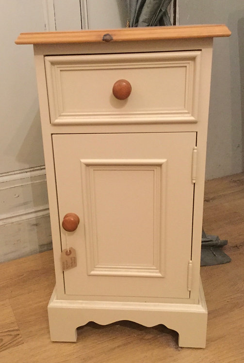Painted Pine Bedside Cabinet