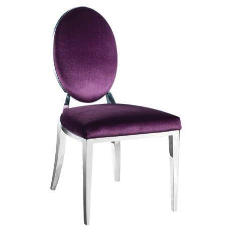 Purple Oval Back Dining Chair