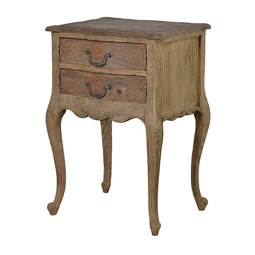 Provincial Reclaimed Pine 2 Drawer Bedside