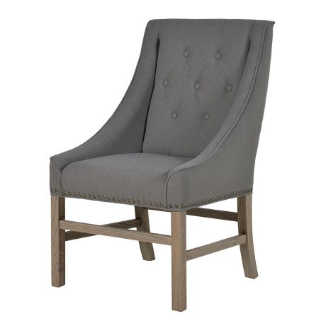 Grey Studded Occasional Chair