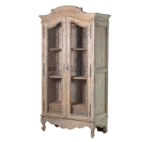 Provincial Reclaimed Pine Wired Armoire