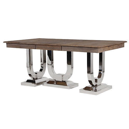 Recycled Pine / Steel Extending Dining Table