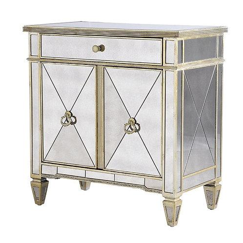 Venetian Antique Glass 2 Door Cabinet