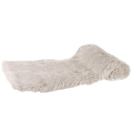 Cream Thick Faux Fur Throw