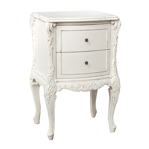 Louis Philippe Small 2 Drawer Bedside