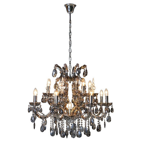Large Smoked Glass Chandelier