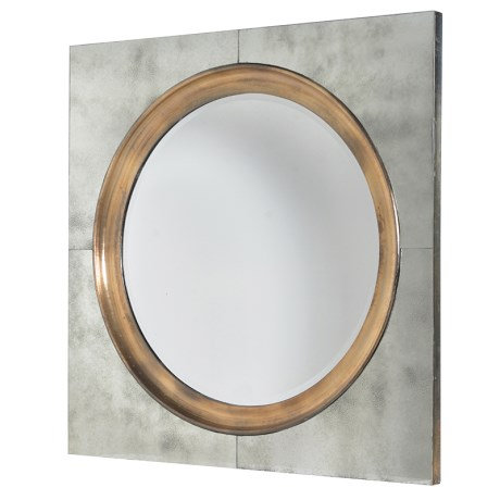 Round Mirror In Square Frame