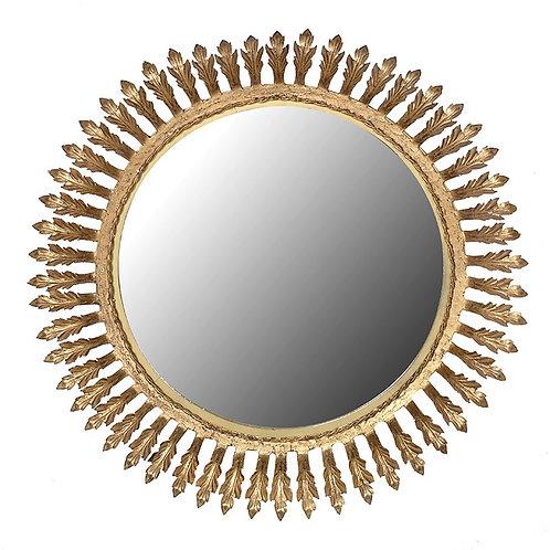 Gold Pattern Edge Mirror
