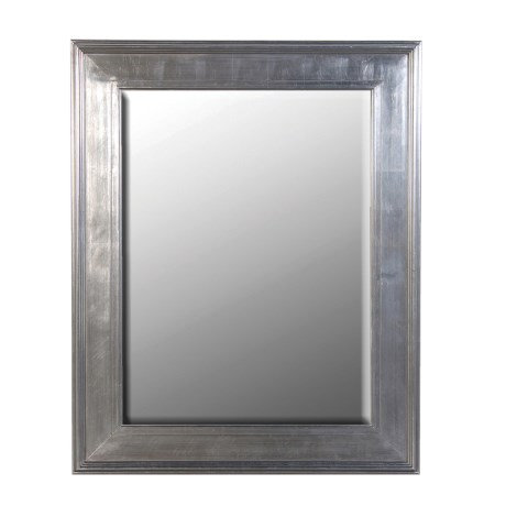 Medium Silver/Black Frame Mirror