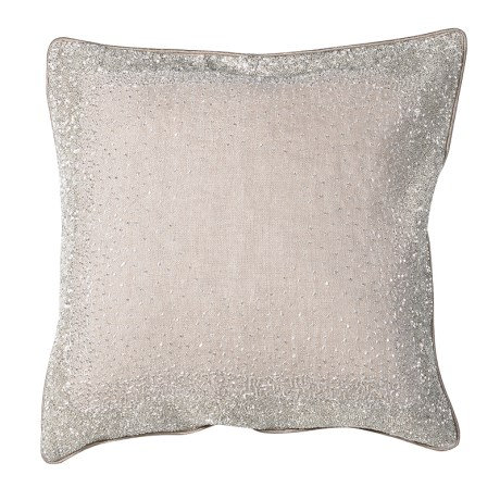 Cushion Cover With Sparkle Hand Embroidery