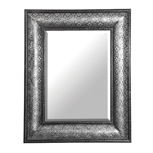 Silver Embossed Large Mirror