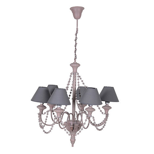 Taupe Beaded Chandelier