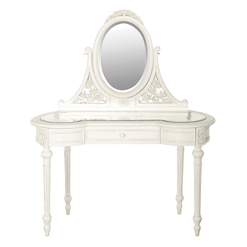 Louis Philippe Glazed Dressing Table with Mirror