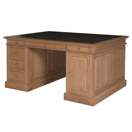 Weathered Oak Large Villeneuve Partner's Desk