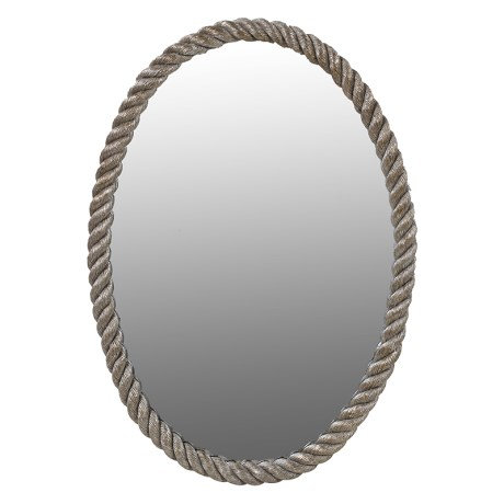 Silver Rope Edged Mirror