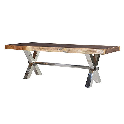 Stainless Steel / Wood Dining Table