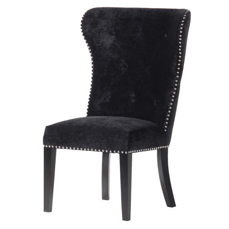 Coco Noir Dining Chair With Lion Knocker