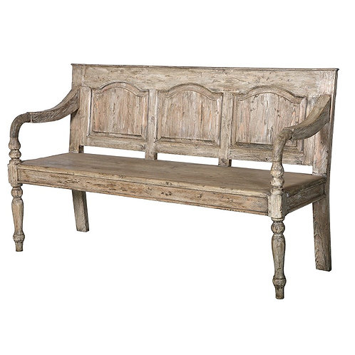 Provincial Reclaimed Pine Bench