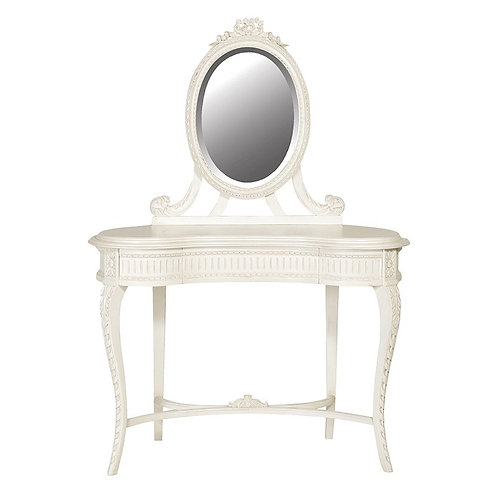 Louis Philippe Carved Dressing Table with Mirror
