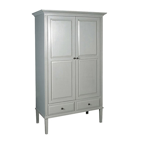 Shaker Grey Double Wardrobe