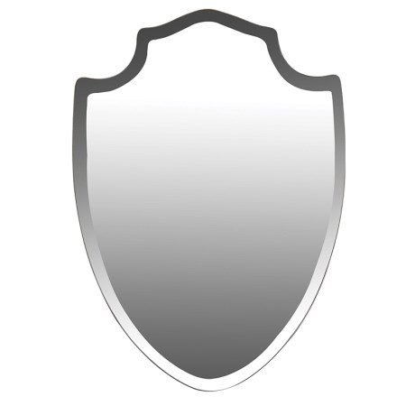 Bevelled Shield mirror