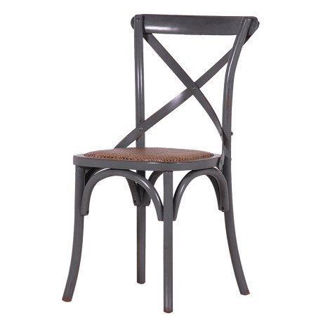 Belle Noir X-Back Dining Chair