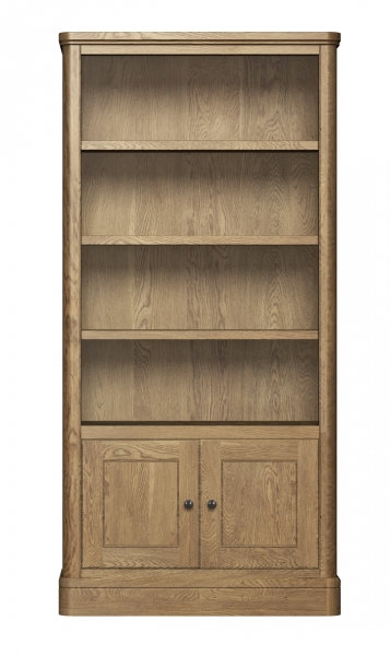 Cotswolds Tall Bookcase With Cupboard