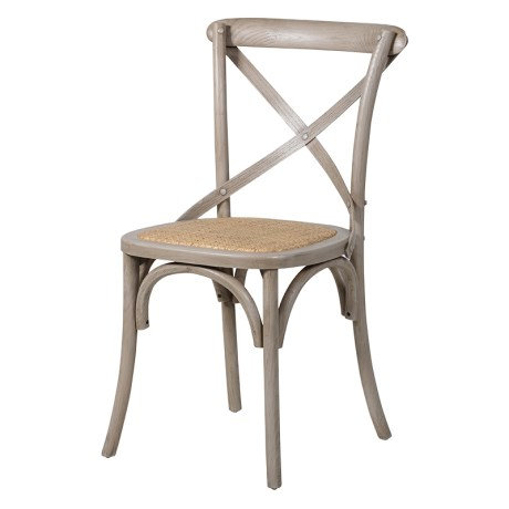Washed Effect X-Back Dining Chair