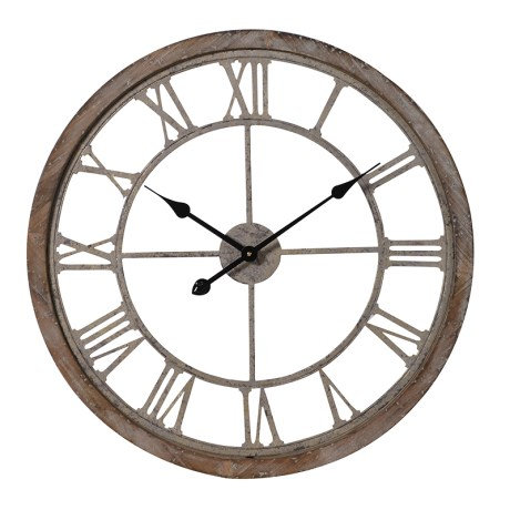 Round Cut-Out Wooden Clock