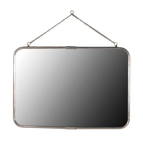 Antiqued Silver Rectangular Wall Mirror